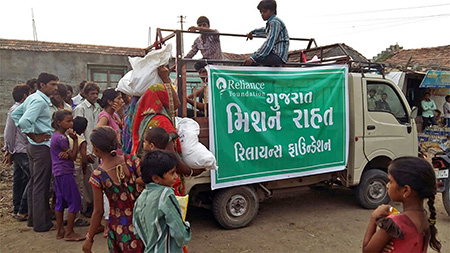 Days after deluge, RF extends relief to 5,000 families in Amreli