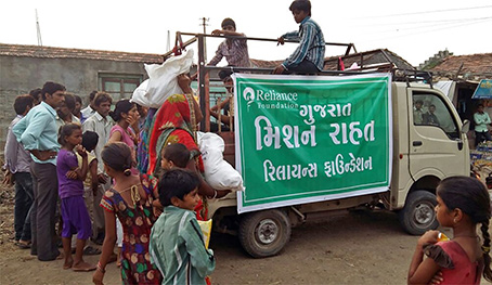 Reliance Foundation Relief Operation – Amreli, Gujarat