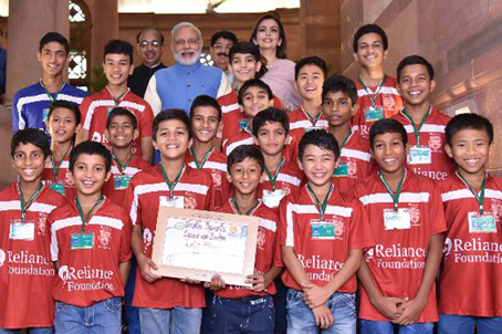 Honourable Prime Minister of India Shri Narendra Modi launched Reliance Foundation Youth Sports pan India initiative