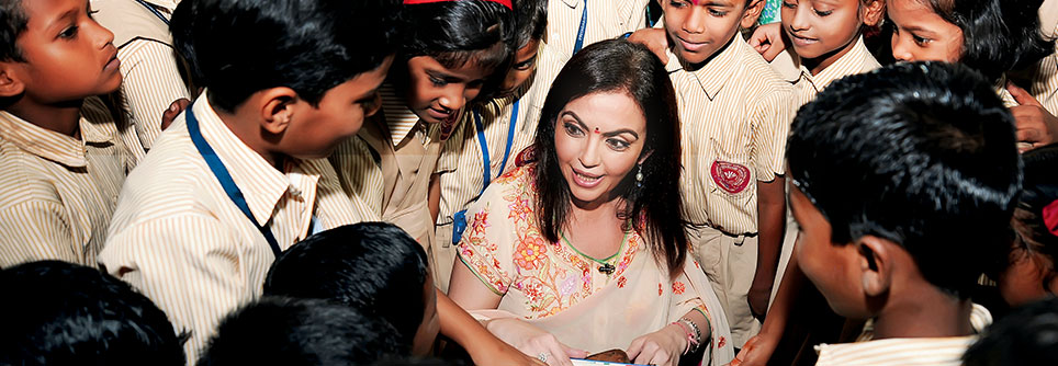 Nita M. Ambani Founder and Chairperson of Reliance Foundation